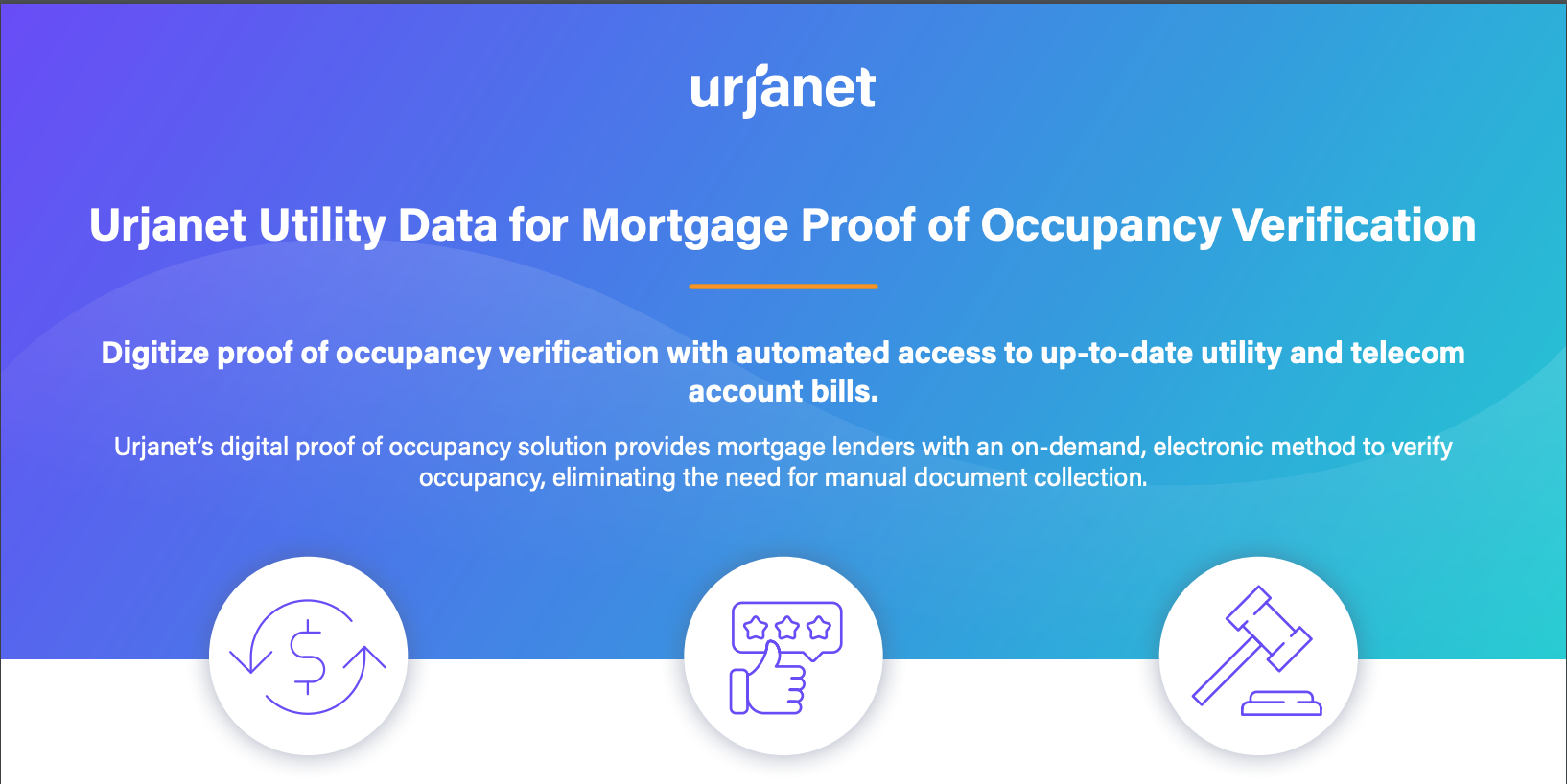 Urjanet Utility Data for Mortgage Proof of Occupancy Verification